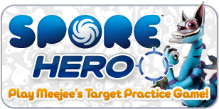 Spore Hero: Play Meejee's Target Practice Game!